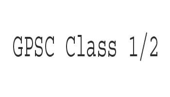 GPSC Class 1/2