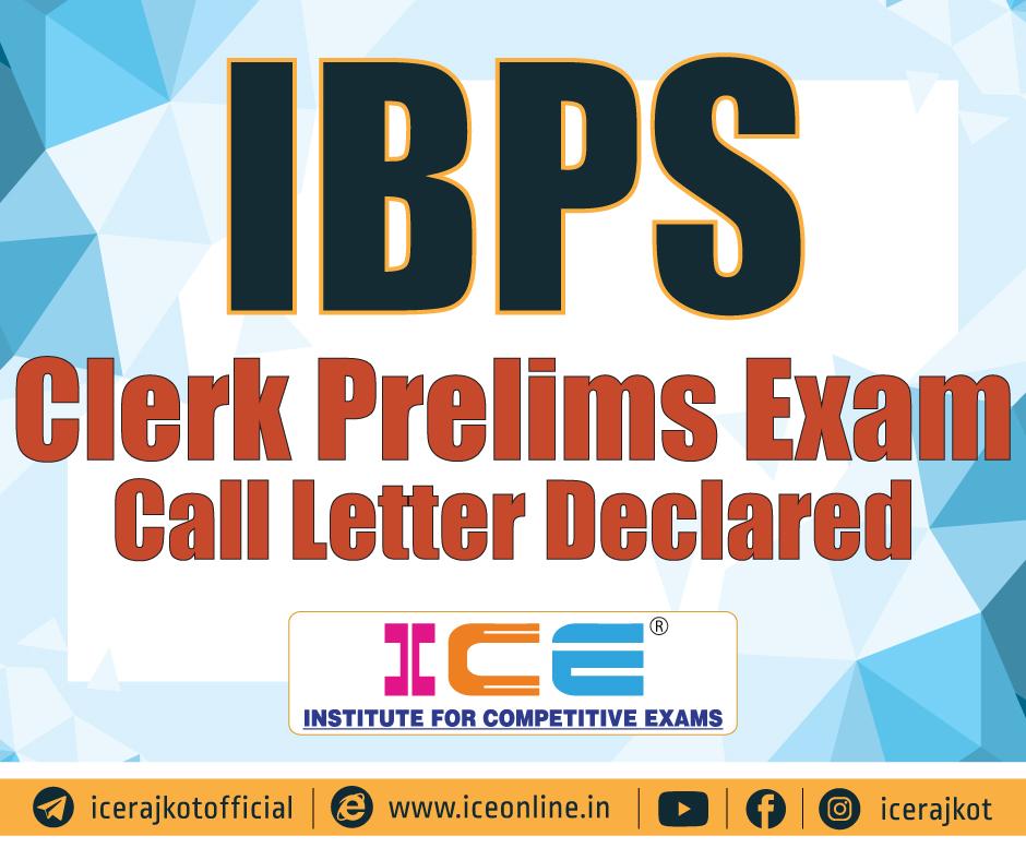 IBPS Clerk Prelims Exam Call Letter Declared 2019